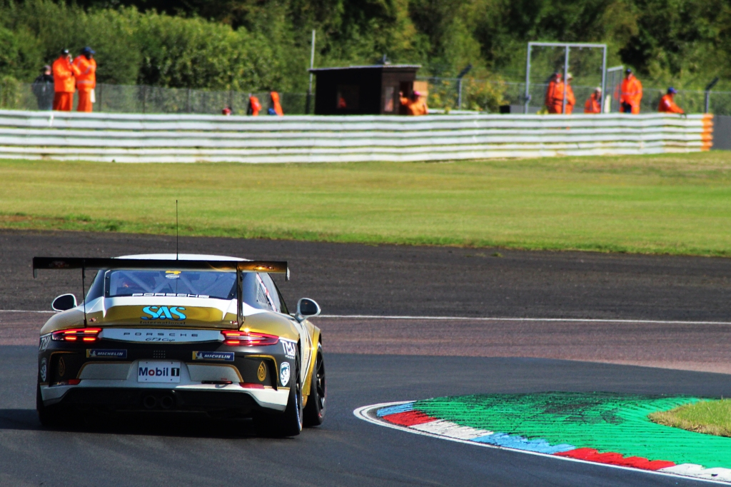 Jack McCarthy rounds Campbell corner in the Porsche Carrera Cup GB.