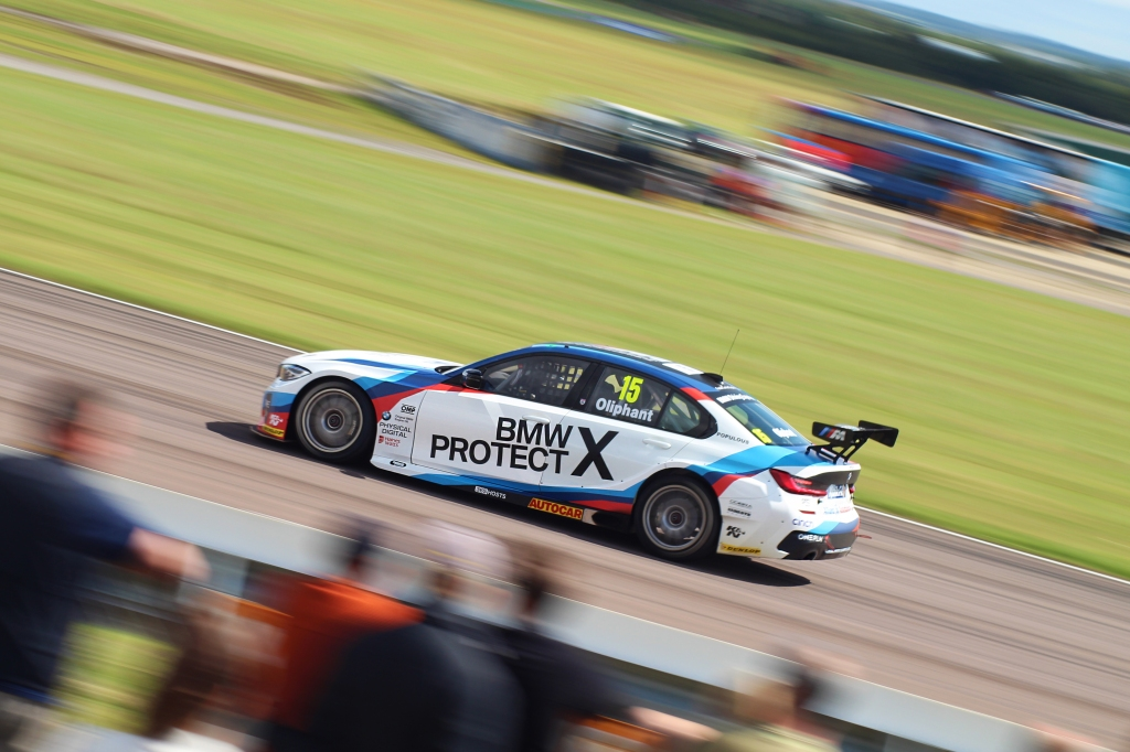 West Surrey Racing's Tom Oliphant navigates Campbell corner in his BMW 330i M Sport.